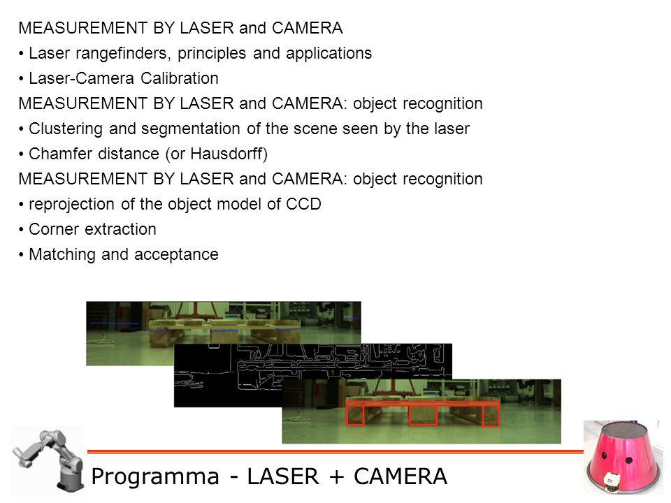 M. De Cecco - Lucidi del corso di Robotica e Sensor Fusion MEASUREMENT BY LASER and CAMERA Laser rangefinders, principles and applications Laser-Camer