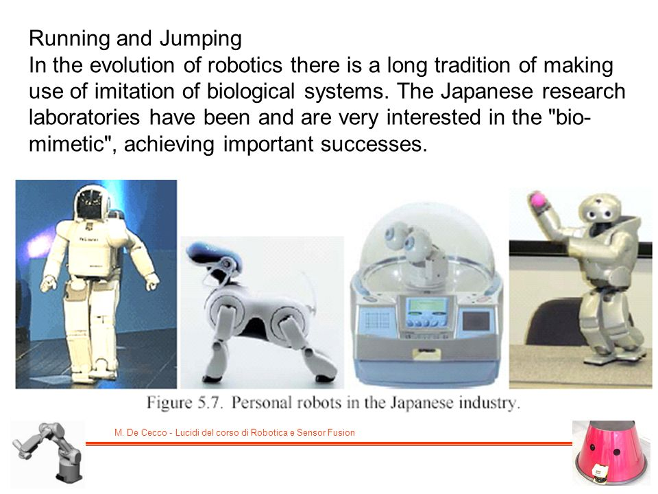 Running and Jumping In the evolution of robotics there is a long tradition of making use of imitation of biological systems.