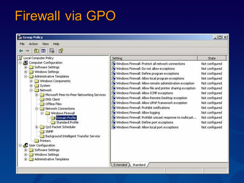 Firewall via GPO