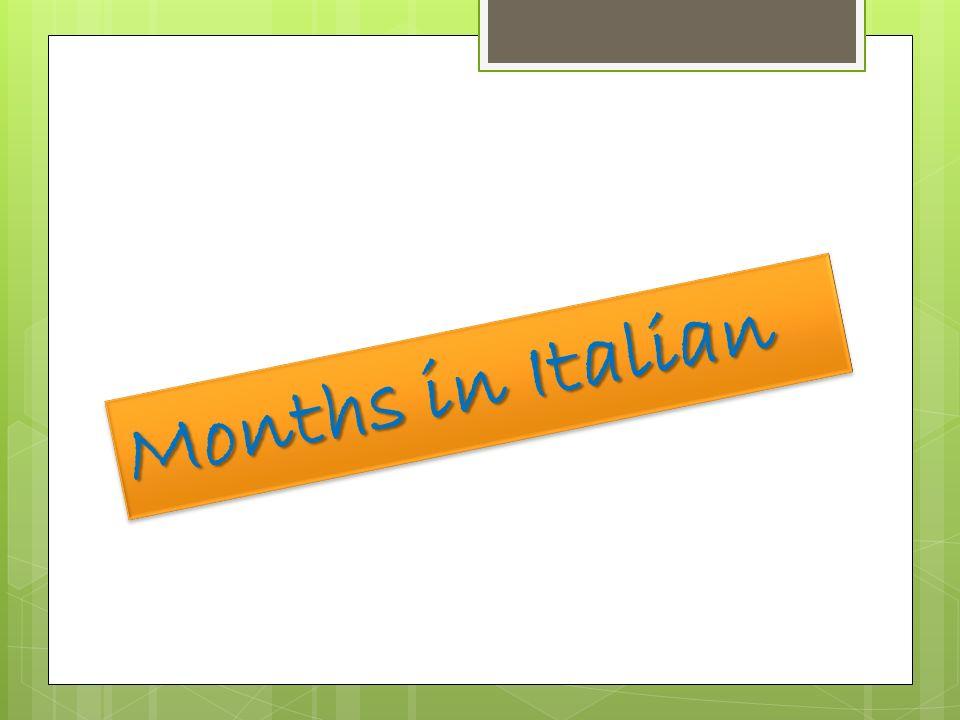 Months in Italian