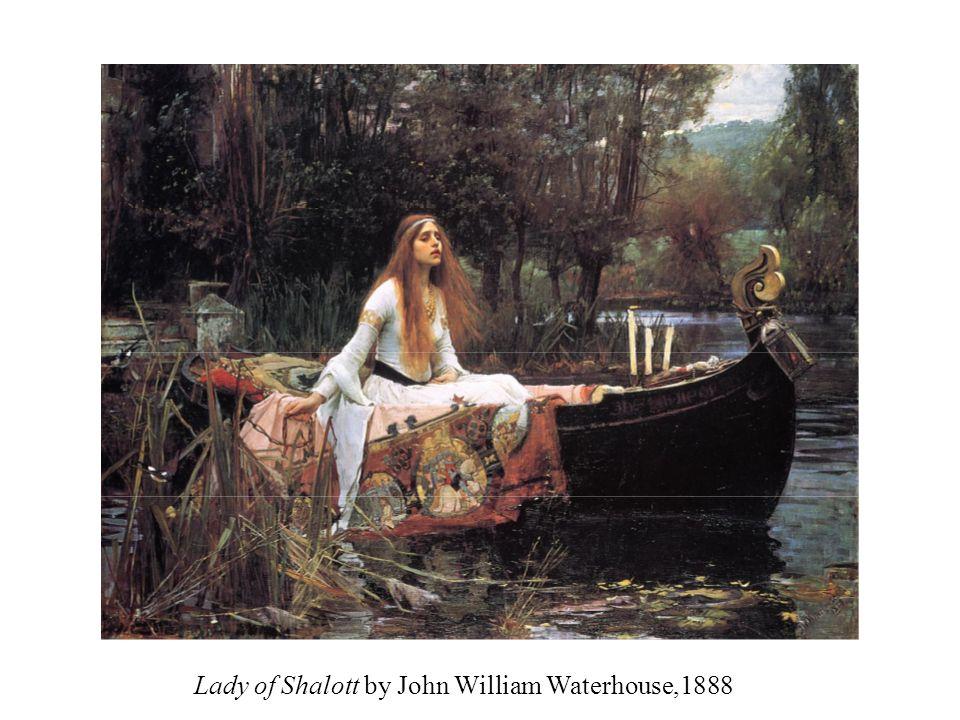 Lady of Shalott by John William Waterhouse,1888