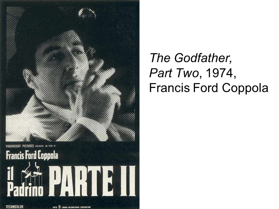 The Godfather, Part Two, 1974, Francis Ford Coppola