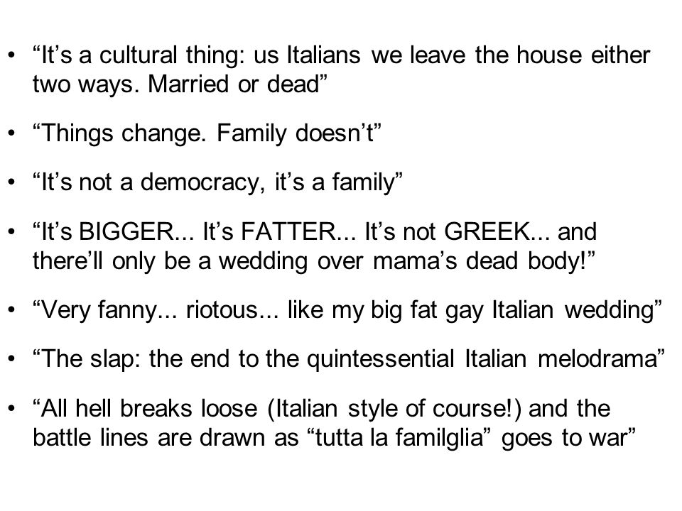 Its a cultural thing: us Italians we leave the house either two ways.