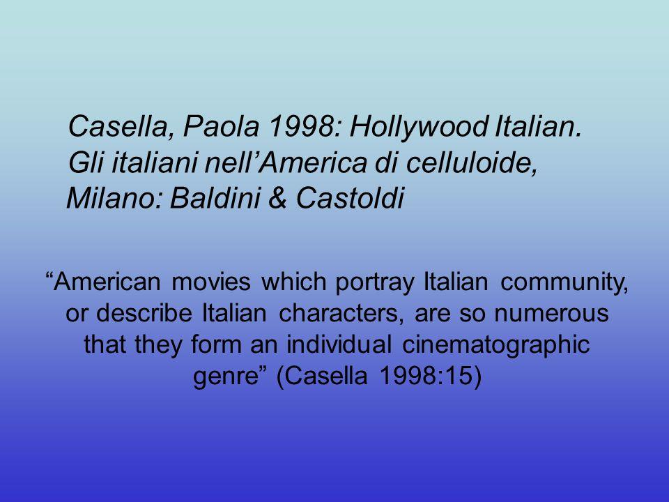 Casella, Paola 1998: Hollywood Italian.