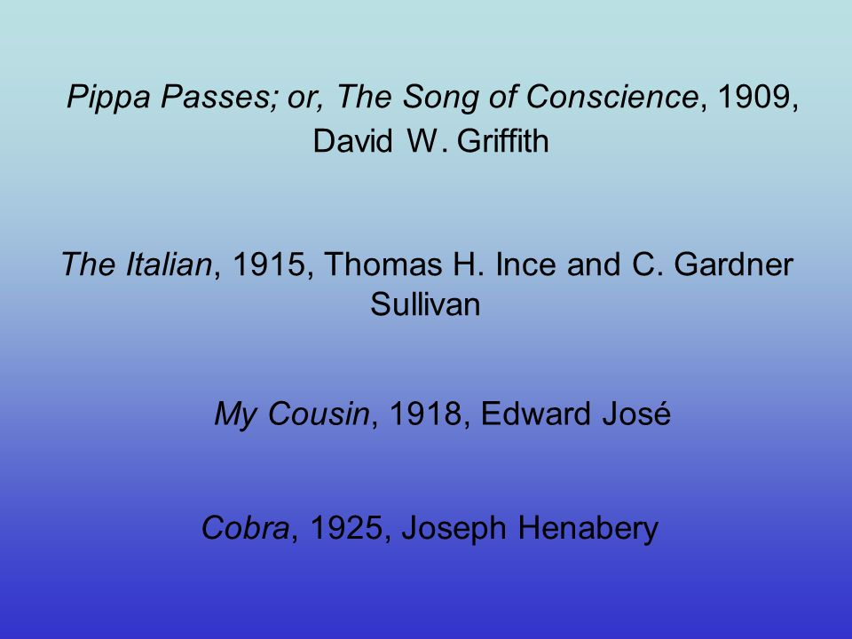 Pippa Passes; or, The Song of Conscience, 1909, David W.