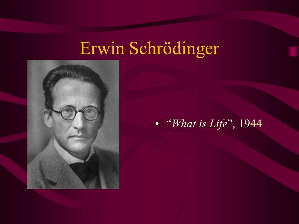 Erwin Schrödinger What is Life, 1944