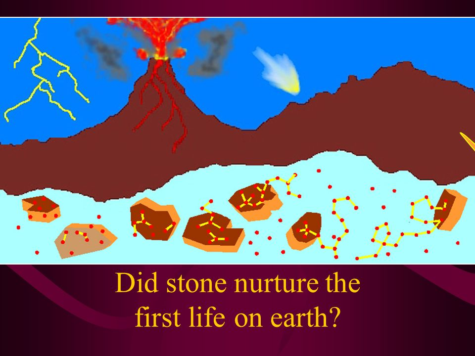 Did stone nurture the first life on earth?