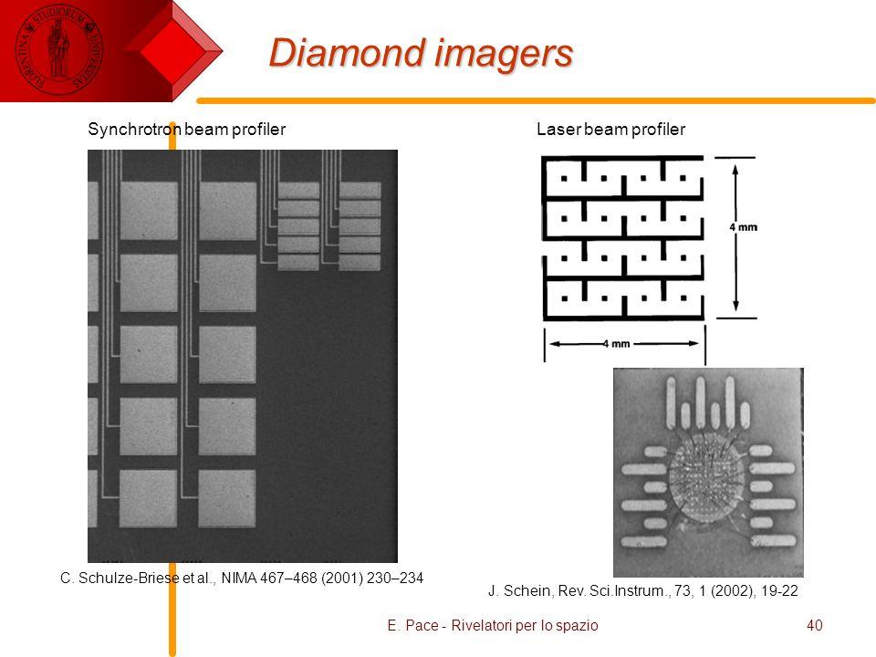 E. Pace - Rivelatori per lo spazio40 Diamond imagers C.