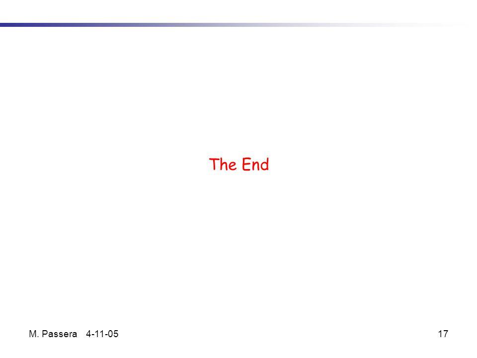 M. Passera 4-11-0517 The End