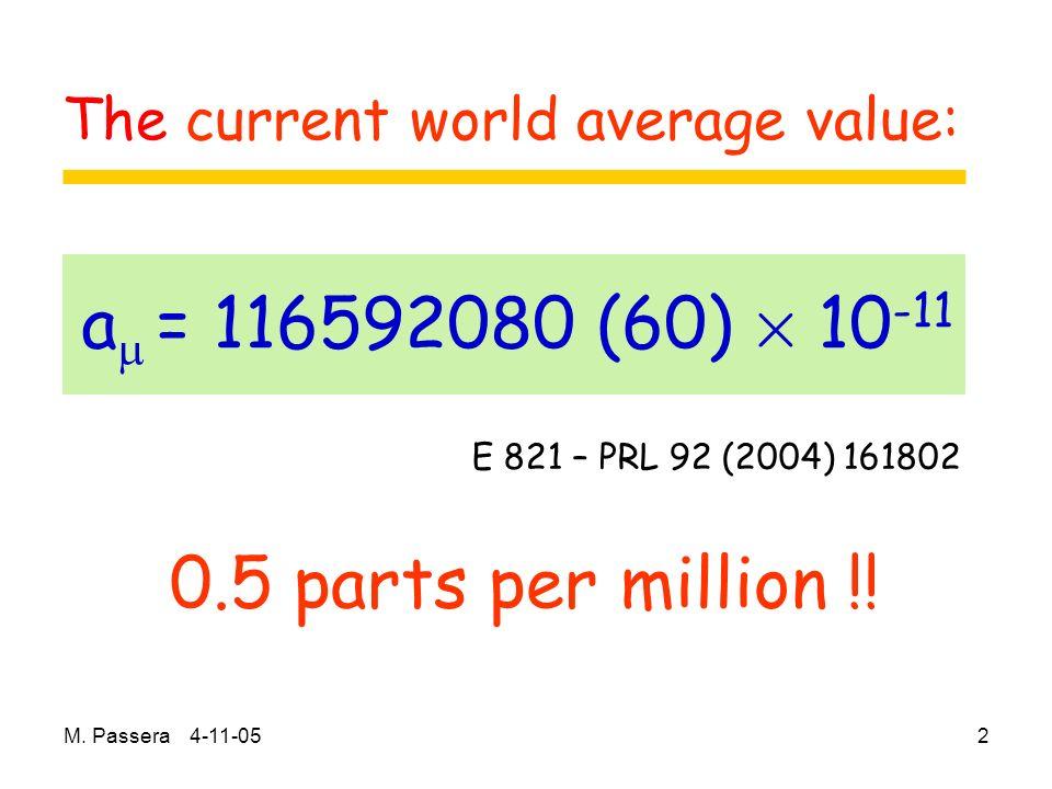 M. Passera 4-11-052 0.5 parts per million !.