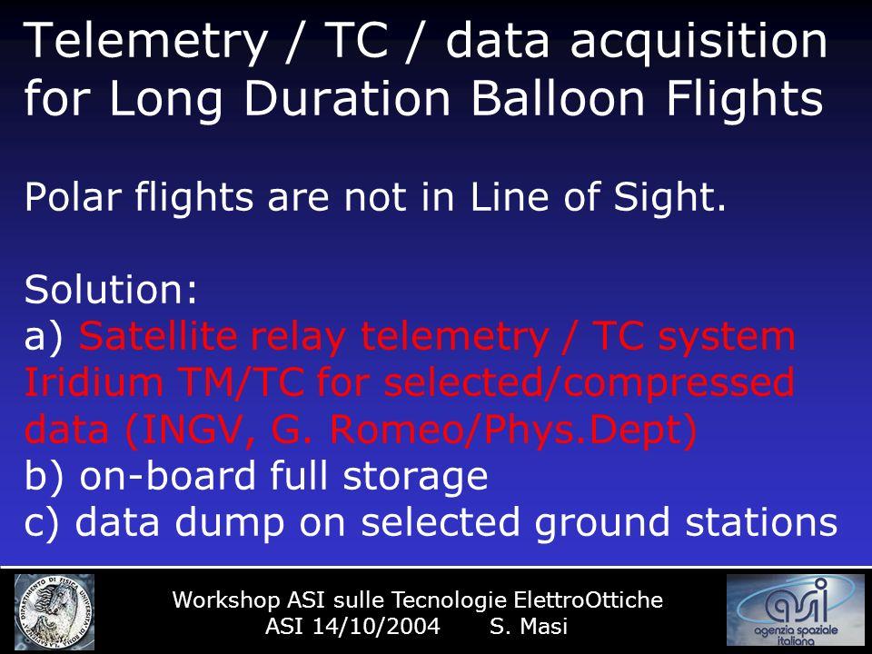 Iridium 66 satelliti (6 ricambi già in orbita) a 780 km 100 minuti di periodo orbitale Frequenza comunicazione verso terra (utenza) 1616..1625 MHz Frequenza satellite-satellite 23.18-23.38 GHZ Frequenza satellite-terra 19.4..19.2 GHz Frequenza terra-satellite 29.1-29.3 GHz Velocità di trasmissione per canale 2400 bps