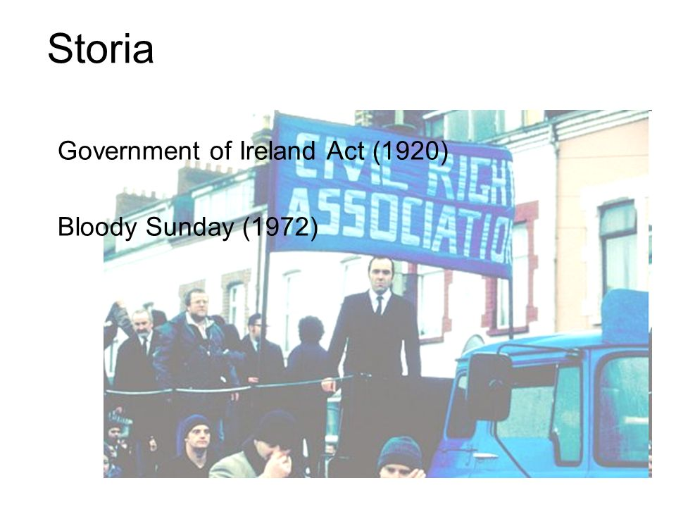 Government of Ireland Act (1920) Bloody Sunday (1972) Storia