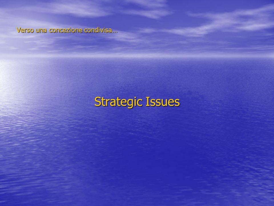 Verso una concezione condivisa… Strategic Issues