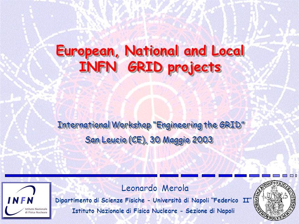 European, National and Local INFN GRID projects Leonardo Merola Dipartimento di Scienze Fisiche - Università di Napoli Federico II Istituto Nazionale
