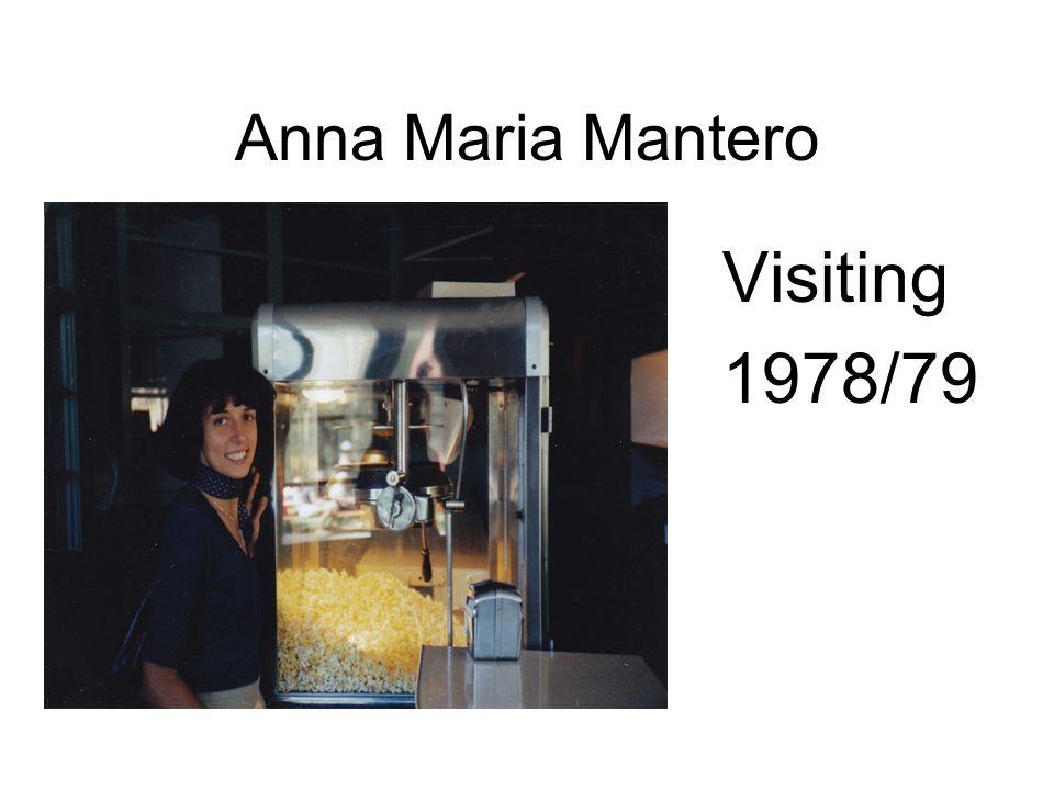 Anna Maria Mantero Visiting 1978/79