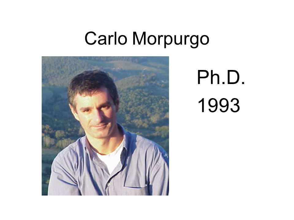 Carlo Morpurgo Ph.D. 1993