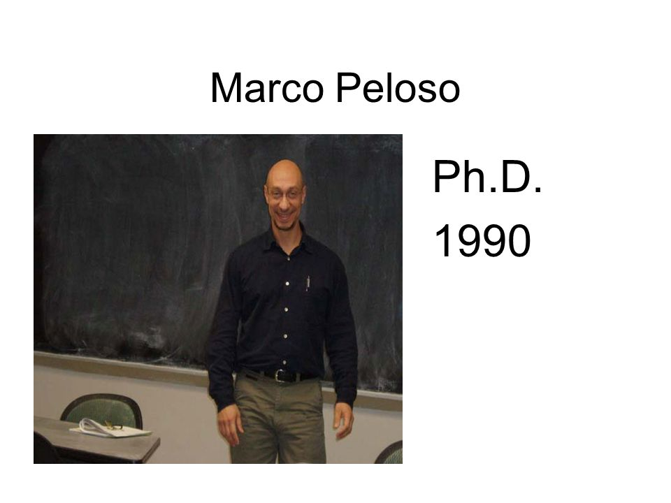 Marco Peloso Ph.D. 1990