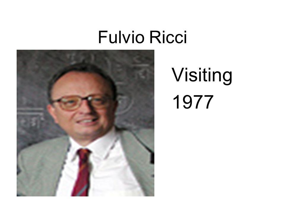 Fulvio Ricci Visiting 1977