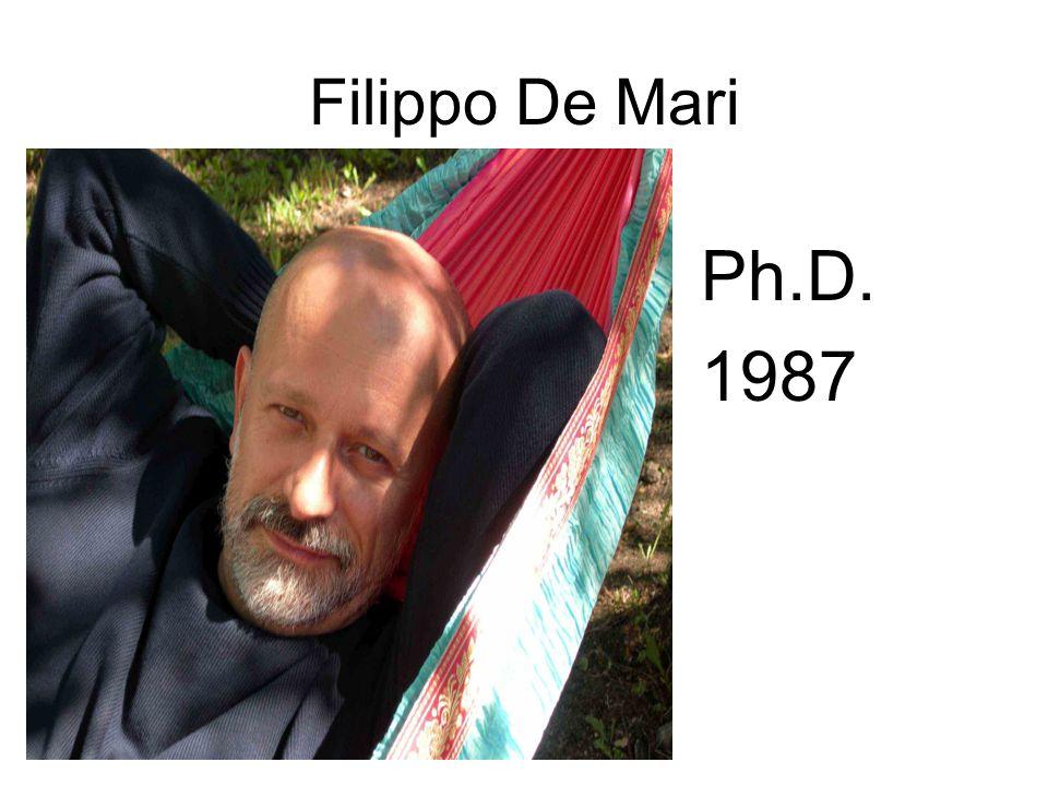 Filippo De Mari Ph.D. 1987