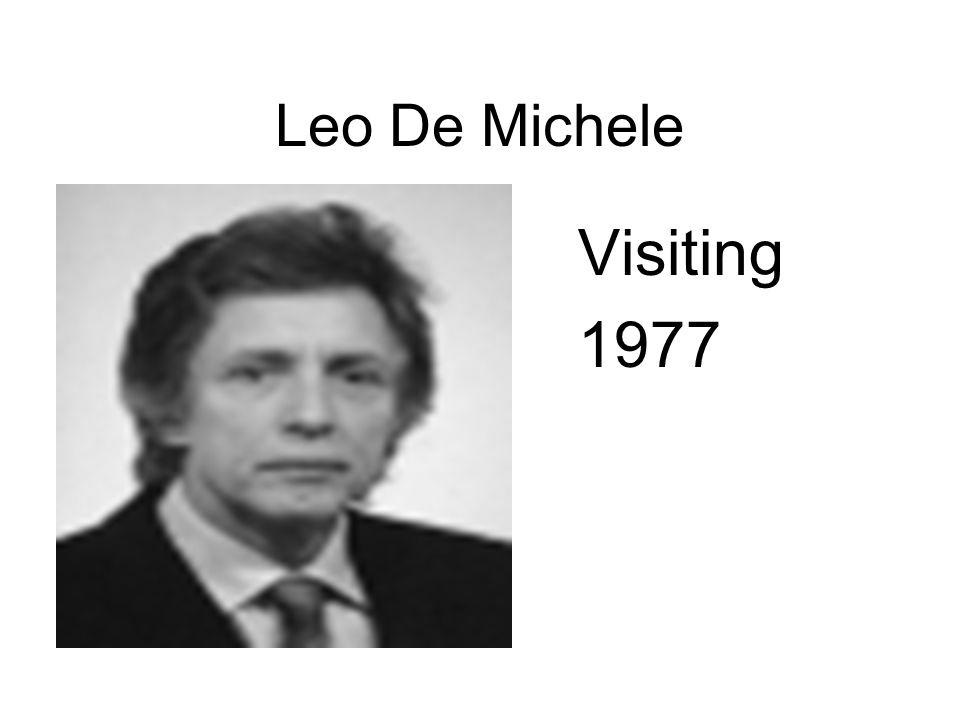 Leo De Michele Visiting 1977