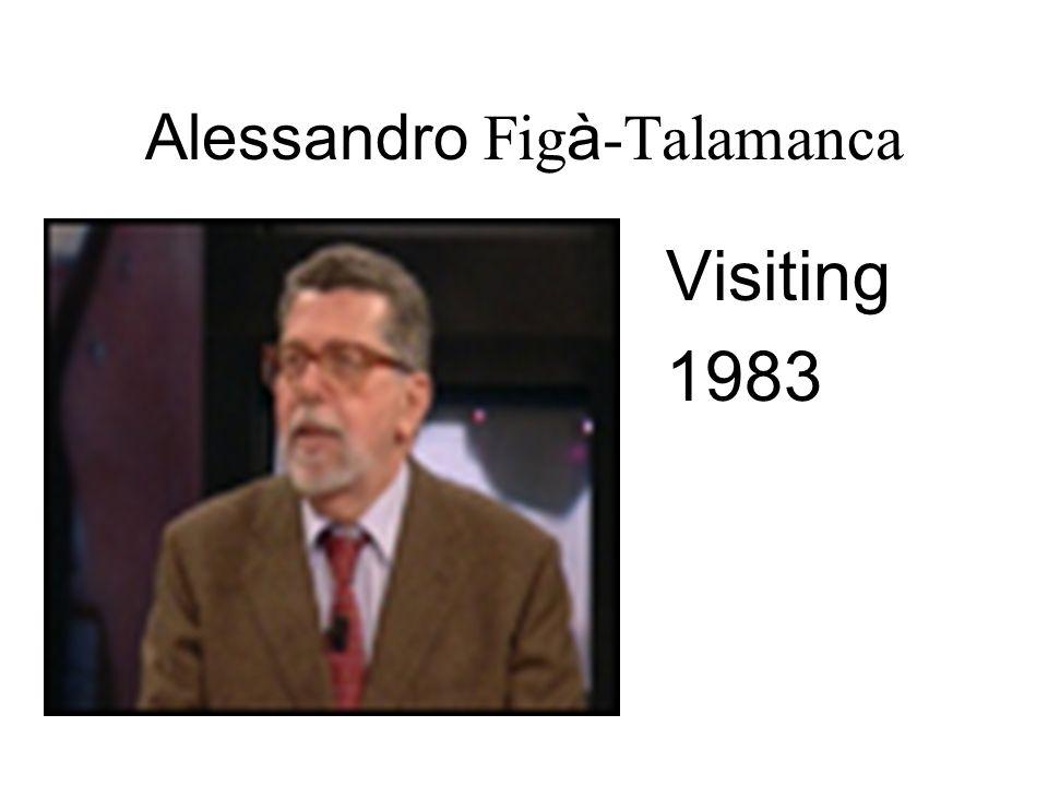Alessandro Fig à -Talamanca Visiting 1983
