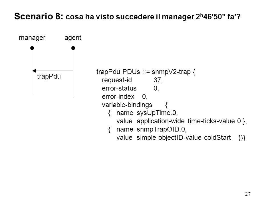 27 Scenario 8: cosa ha visto succedere il manager 2 h 46 50 fa .