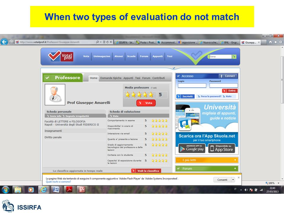 When two types of evaluation do not match