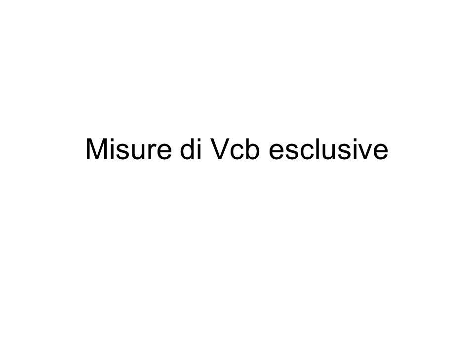 Misure di Vcb esclusive