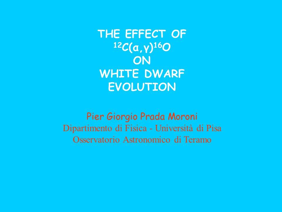 THE EFFECT OF 12 C(α,γ) 16 O ON WHITE DWARF EVOLUTION Pier Giorgio Prada Moroni Dipartimento di Fisica - Università di Pisa Osservatorio Astronomico d