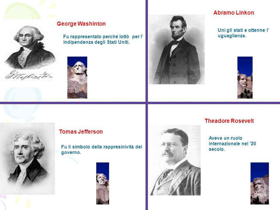 Fu rappresentato perché lottò per l indipendenza degli Stati Uniti. George Washinton Fu il simbolo della rappresinività del governo. Tomas Jefferson A
