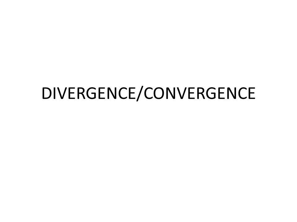 DIVERGENCE/CONVERGENCE