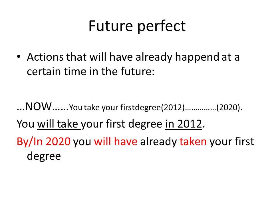 Futuro semplice Simple future Present continuous Present simple