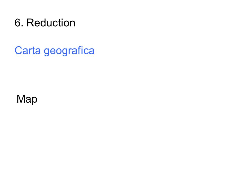 6. Reduction Carta geografica Map