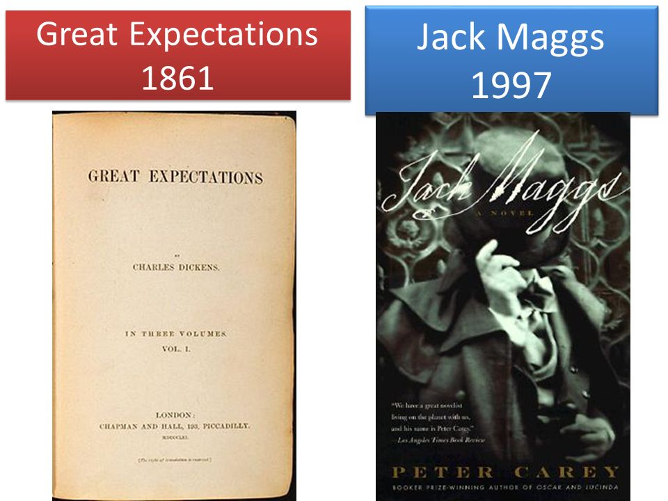 Great Expectations 1861 Jack Maggs 1997