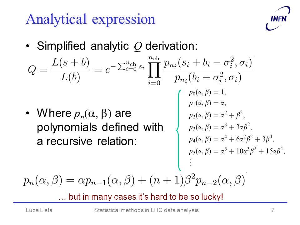 CLs PDF plot Luca ListaStatistical methods in LHC data analysis18