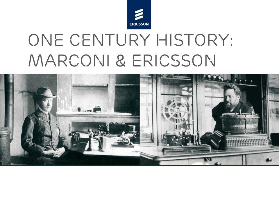 Slide title minimum 48 pt Slide subtitle minimum 30 pt One century History: Marconi & Ericsson