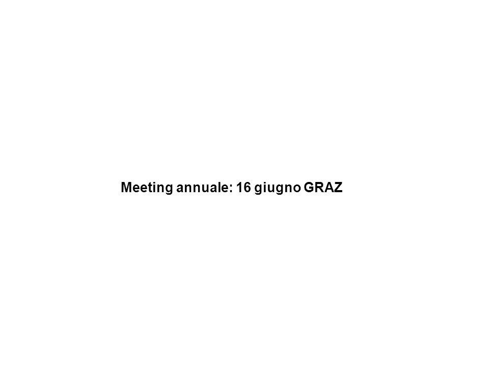 Meeting annuale: 16 giugno GRAZ