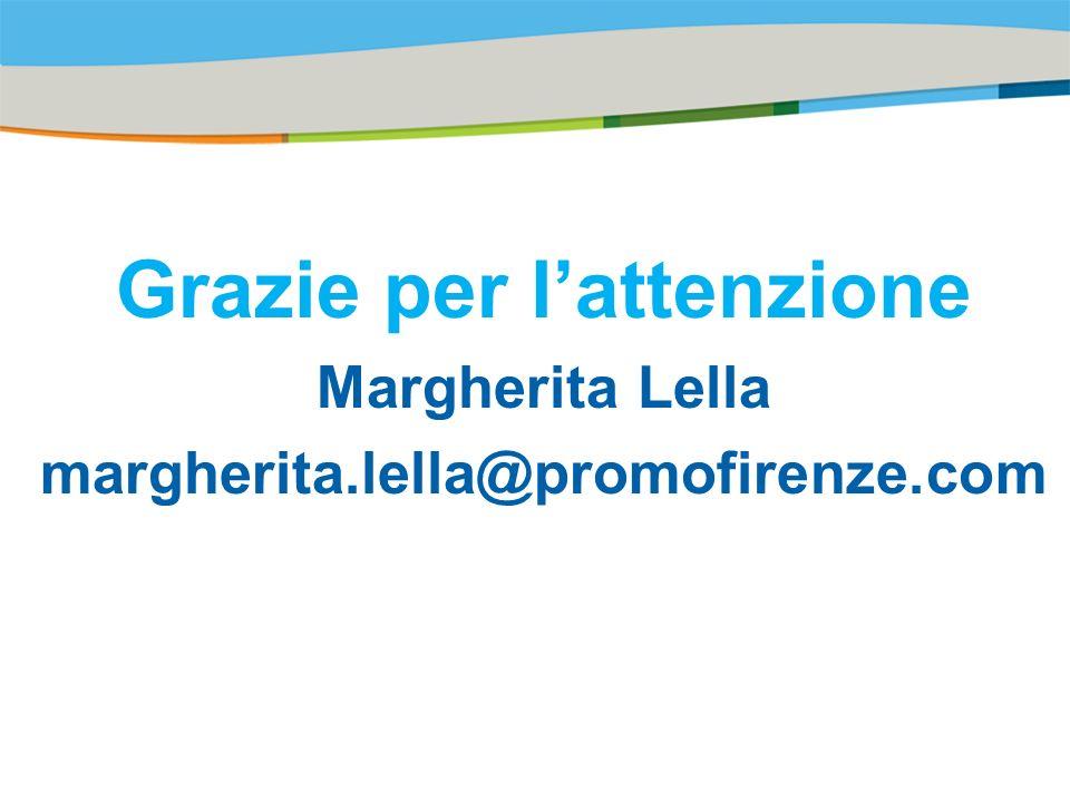 Title of the presentation | Date |# Grazie per lattenzione Margherita Lella margherita.lella@promofirenze.com