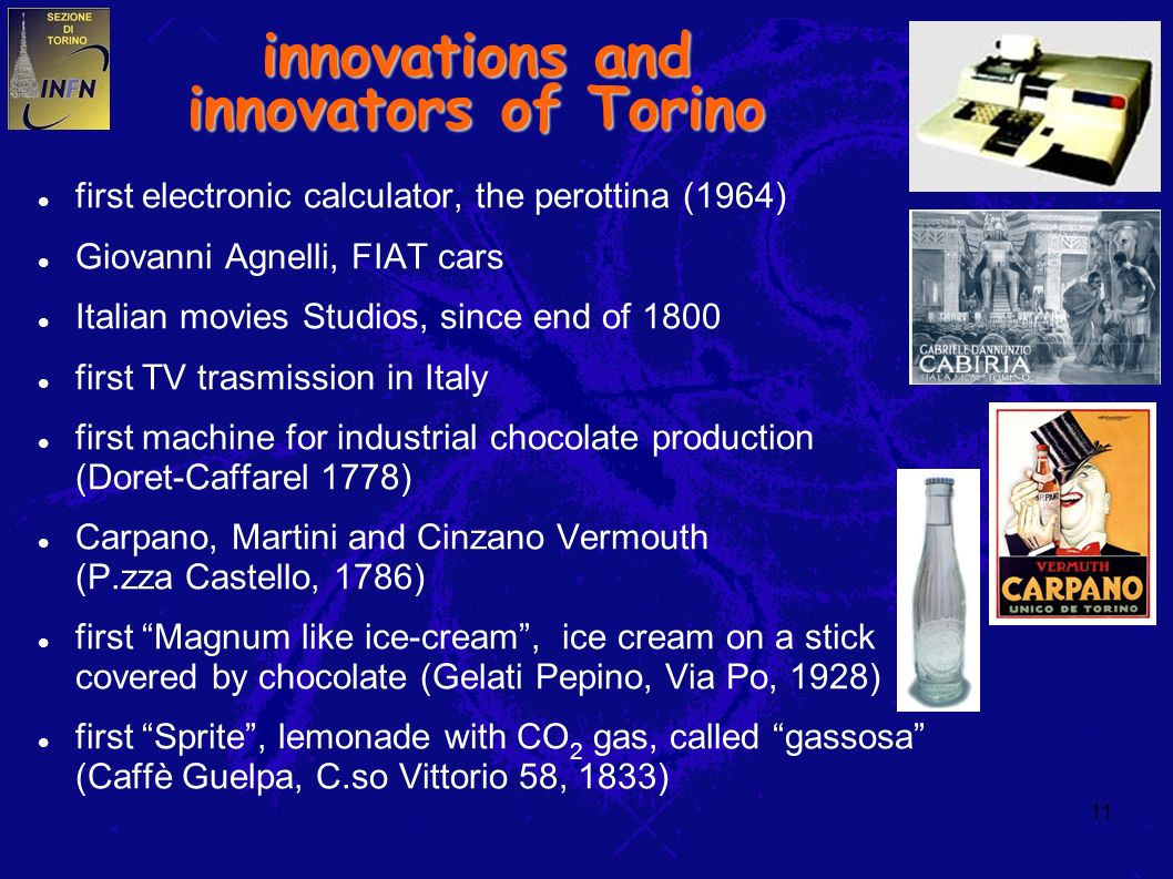 11 innovations and innovators of Torino first electronic calculator, the perottina (1964) Giovanni Agnelli, FIAT cars Italian movies Studios, since en