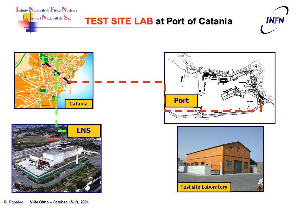 Catania TEST SITE LAB at Port of Catania LNS Port Test site Laboratory R. Papaleo Villa Olmo – October 15-19, 2001