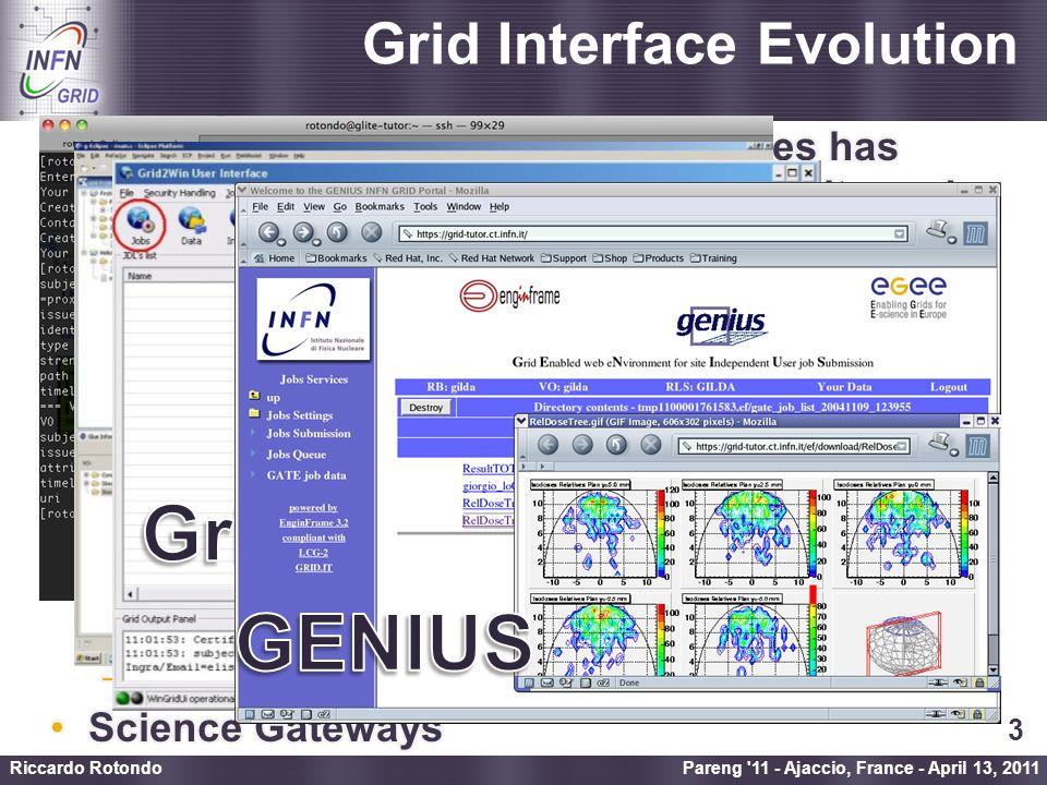Enabling Grids for E-sciencE Science Gateway Pareng 11 - Ajaccio, France - April 13, 2011 Riccardo Rotondo 4