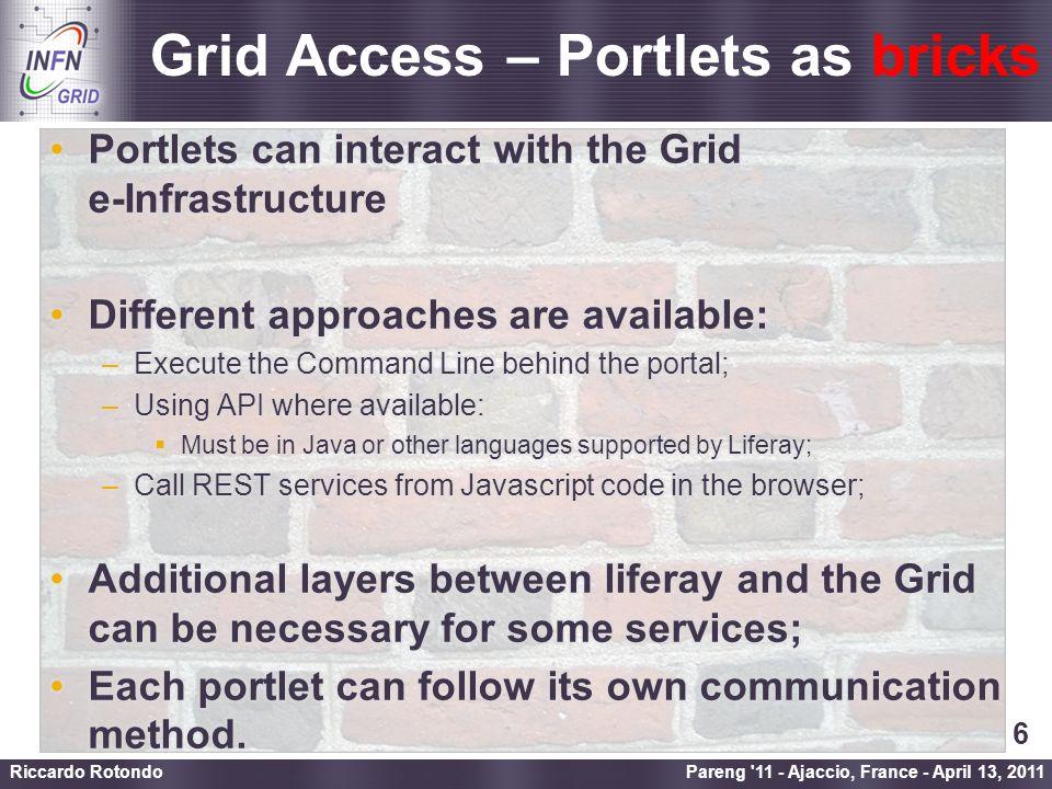 Enabling Grids for E-sciencE First step… Pareng 11 - Ajaccio, France - April 13, 2011 Riccardo Rotondo 7