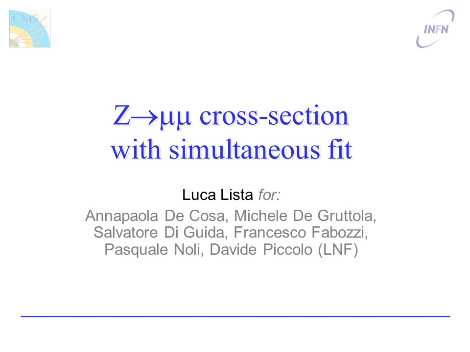 Luca Lista, Gr-I 200812 Ongoing improvements Apply optimized isolation –Background reduction of ~30 50 % –Reduced statistical error on by ~6% Extract peak shape for Z sa from data –Use Z, suppress track on one leg Use Extended Unbinned Max.