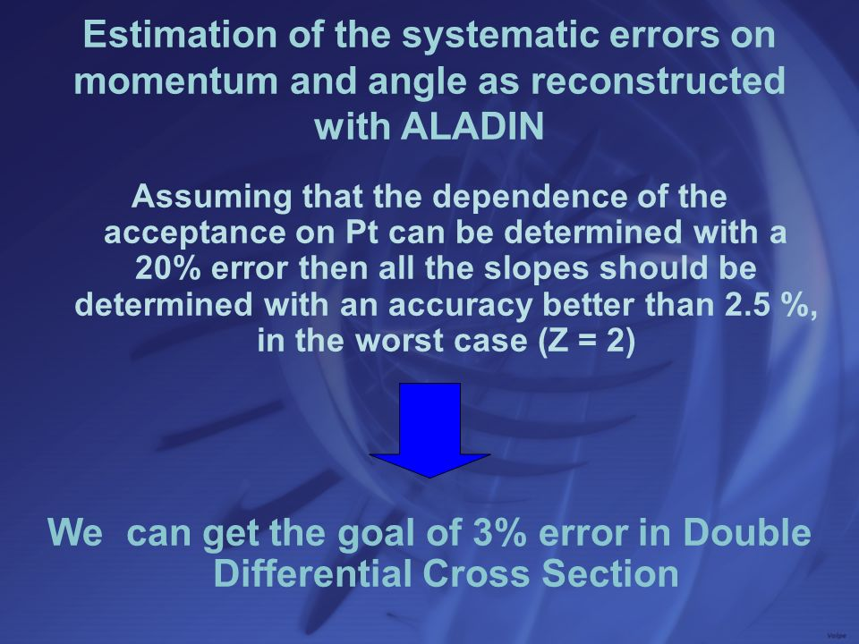 Assuming that the dependence of the acceptance on Pt can be determined with a 20% error then all the slopes should be determined with an accuracy bett