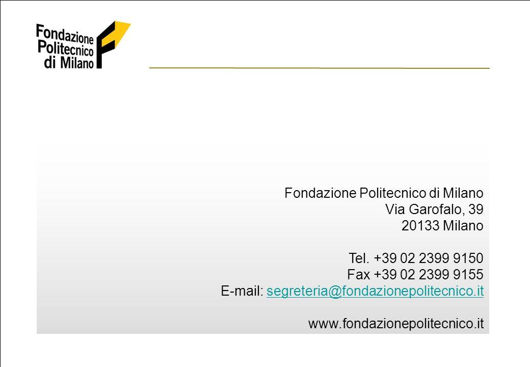 ©2006 Fondazione Politecnico di Milano The European Certifications and Qualification Programmes Market in the UCT user sector 22 Fondazione Politecnico di Milano Via Garofalo, 39 20133 Milano Tel.