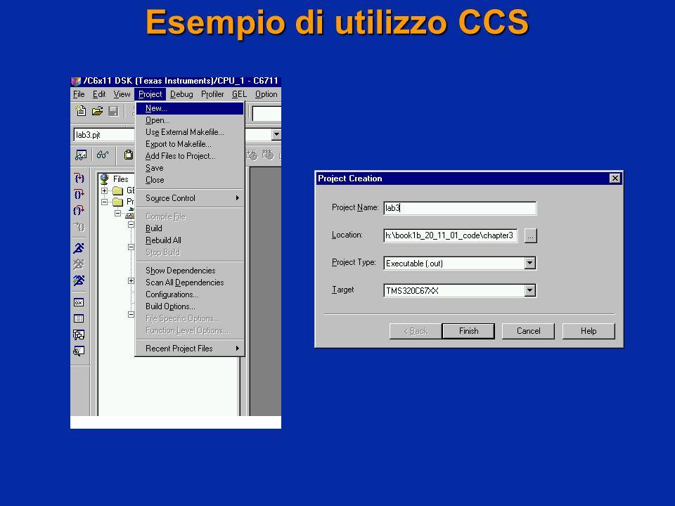 Esempio di utilizzo CCS