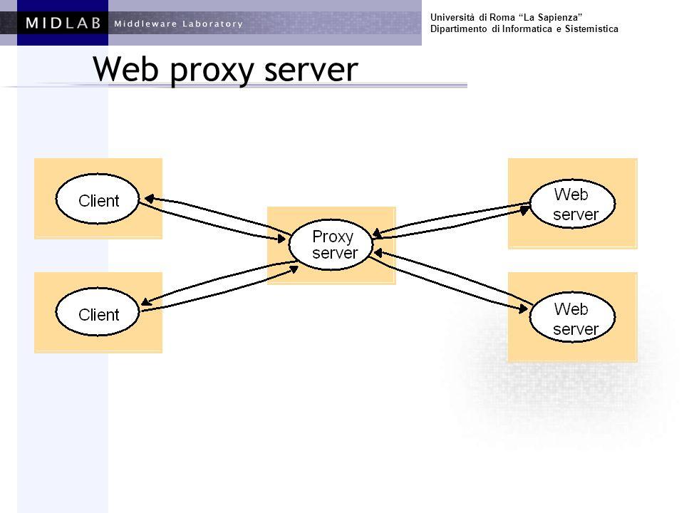 Università di Roma La Sapienza Dipartimento di Informatica e Sistemistica Web proxy server