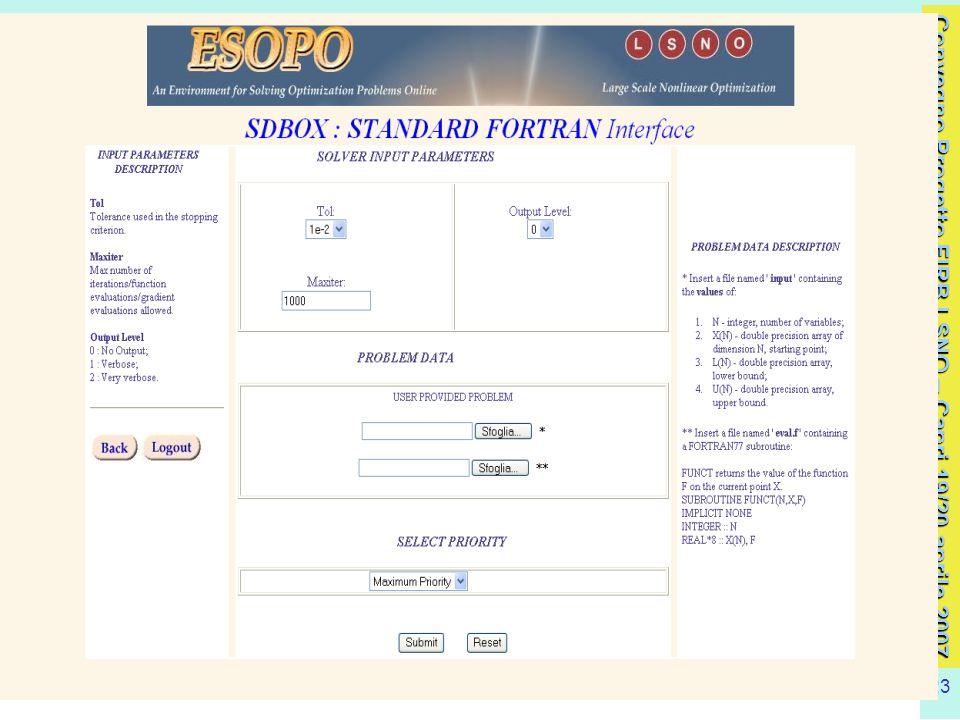 Convegno Progetto FIRB LSNO – Capri 19/20 aprile 2007 23