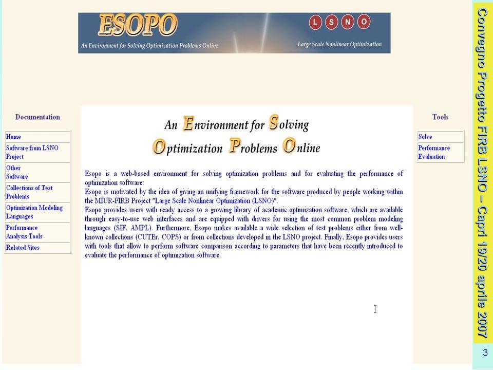 Convegno Progetto FIRB LSNO – Capri 19/20 aprile 2007 3