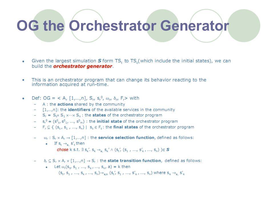 OG the Orchestrator Generator